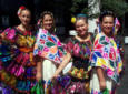 Latin American folk dancers